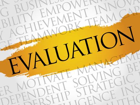 achievable: Evaluation word cloud, business concept