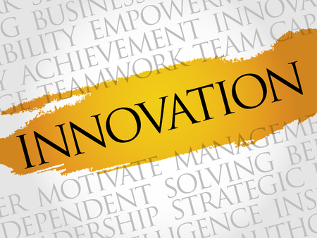 innovation word: INNOVATION word cloud, business concept
