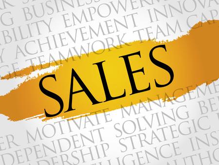 relationsip: Sales word cloud, business concept Illustration