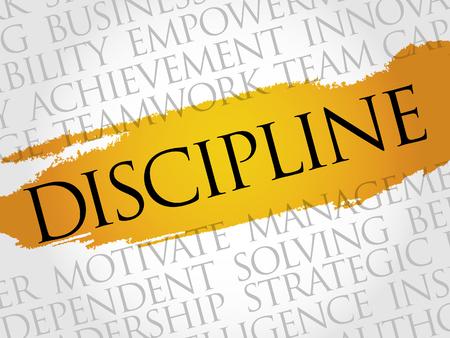 discipline: DISCIPLINE word cloud, business concept