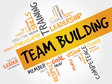 building tool: TEAM BUILDING word cloud, business concept