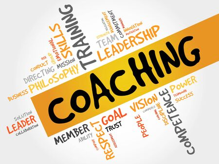 life change: COACHING word cloud, business concept