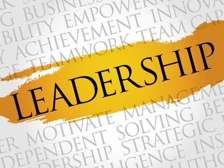 powerful creativity: LEADERSHIP word cloud, business concept