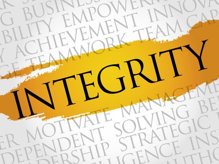 integrity: Integrity word cloud, business concept