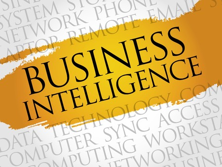 involves: Business intelligence word cloud concept