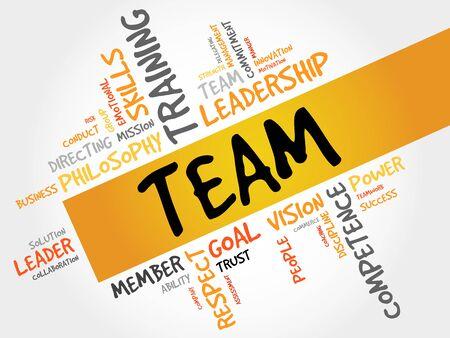 management concept: TEAM word cloud, business concept