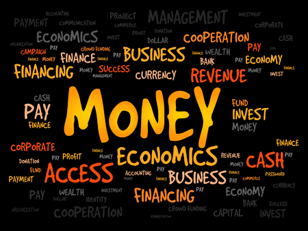 pecuniary: MONEY word cloud, business concept