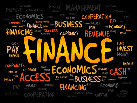 managed: FINANCE word cloud, business concept