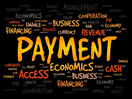 borrower: PAYMENT word cloud, business concept