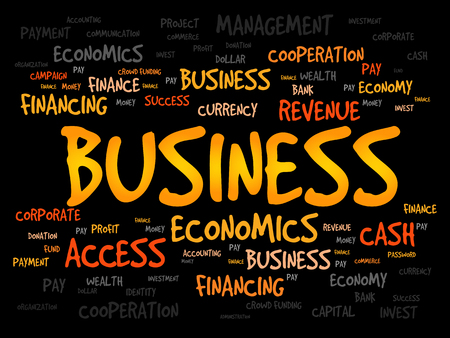 business word: BUSINESS word cloud concept