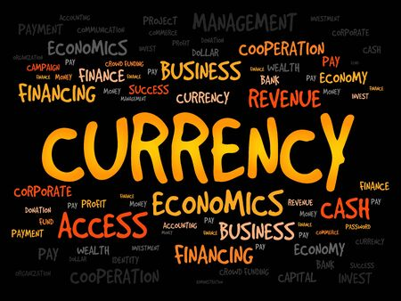 fx: CURRENCY word cloud, business concept Illustration