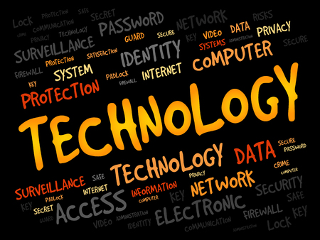 storage data product: TECHNOLOGY word cloud, business concept Illustration