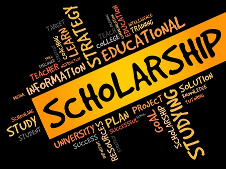 grant: Scholarship word cloud, education concept
