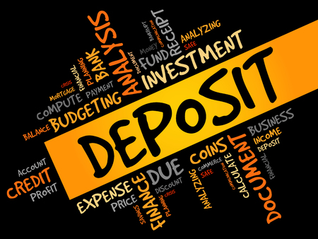 deposit: DEPOSIT word cloud, business concept