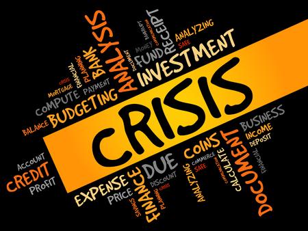 bonds: CRISIS word cloud, business concept Illustration