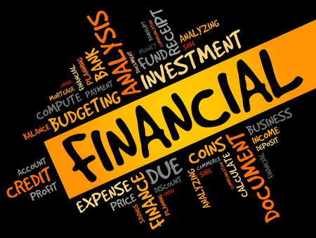 loaning: FINANCIAL word cloud, business concept
