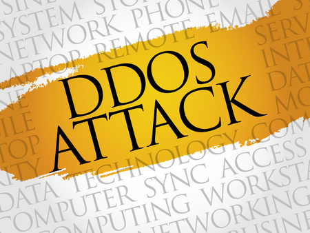 ddos: DDOS Attack word cloud concept
