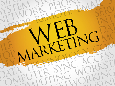 web marketing: Web Marketing word cloud concept