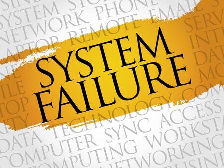 fiasco: System Failure word cloud concept Illustration