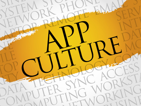 consumer society: App Culture word cloud concept