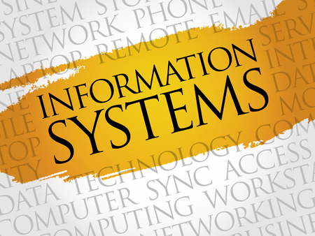 contingency: Information Systems word cloud concept Illustration