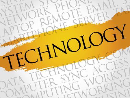 words cloud: Technology words cloud, business concept Illustration