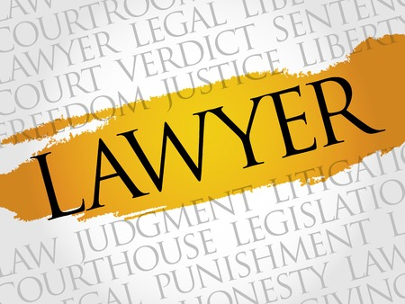 solicitor: Lawyer word cloud concept