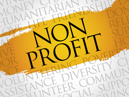 non: Non Profit word cloud concept