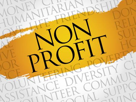 Non-Profit-Wort Cloud-Konzept