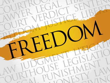 rightness: Freedom word cloud concept Illustration