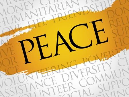 peace concept: Peace word cloud concept