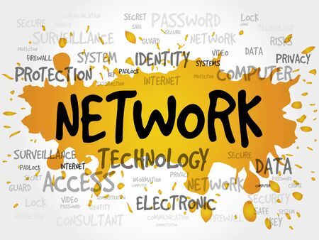 adware: NETWORK word cloud, business concept Illustration