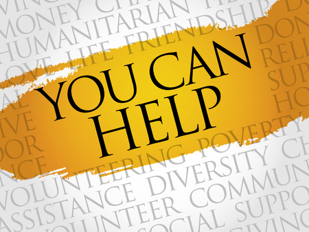 together voluntary: You can help word cloud concept Illustration