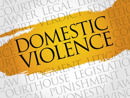 Violencia Doméstica concepto de nube de palabras
