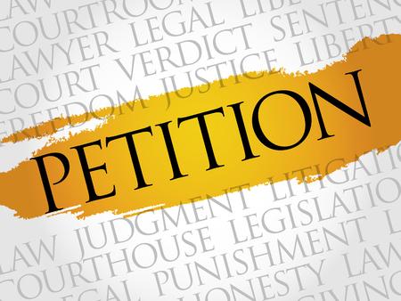 petition: Petition word cloud concept Illustration