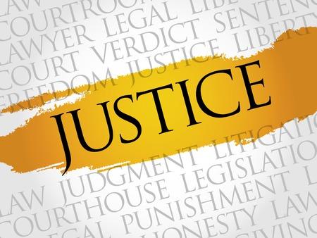 Justice word cloud concept