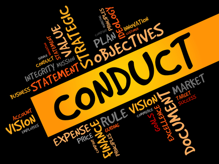 conduct: Conduct word cloud, business concept