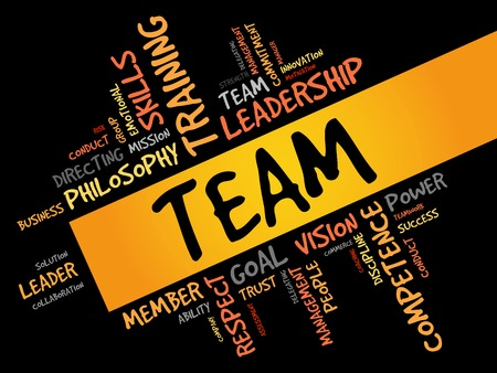 interdependent: TEAM word cloud, business concept