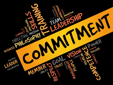 commit: Commitment word cloud, business concept