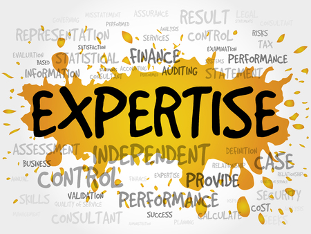 expertise: EXPERTISE word cloud, business concept Illustration