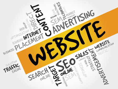 creation of sites: WEBSITE word cloud, business concept