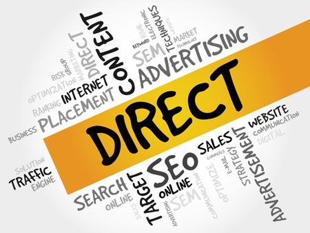 direct sale: DIRECT word cloud, business concept Illustration