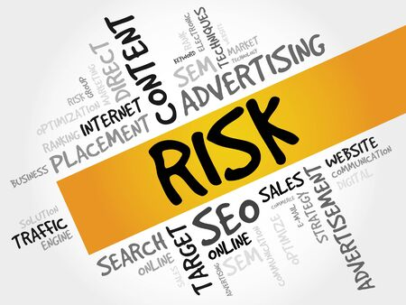 quantitative: RISK word cloud, business concept