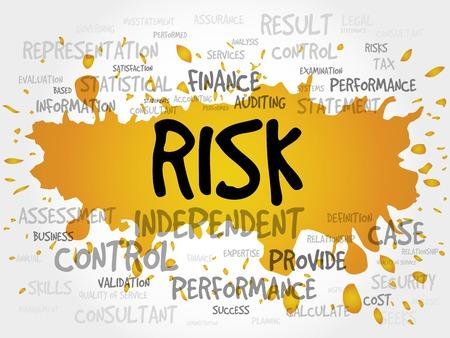 cons: RISK word cloud, business concept
