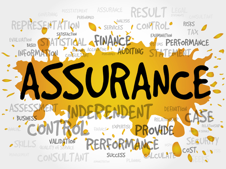 assured: ASSURANCE word cloud, business concept