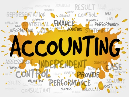 total loss: ACCOUNTING word cloud, business concept Illustration