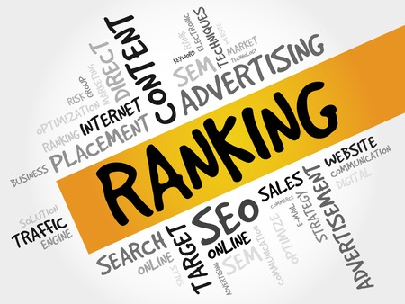 ranking: RANKING word cloud, business concept
