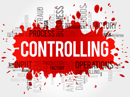 prioritization: Controlling word cloud, business concept Illustration