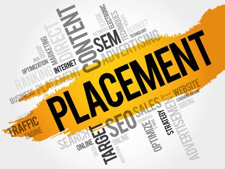 PLACEMENT word cloud, business concept