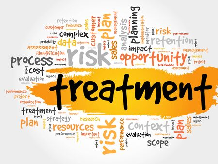 professionalism: Word Cloud with Treatment related tags, business concept